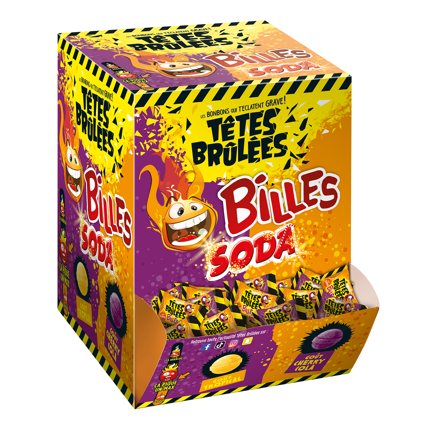 tetes brulees cola 300 pieces